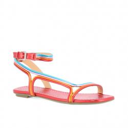 sandales plates 4 lignes pu...
