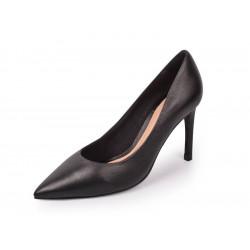 escarpin confort cuir noir