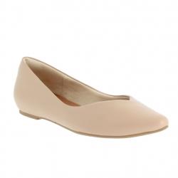 ballerines confort cuir beige