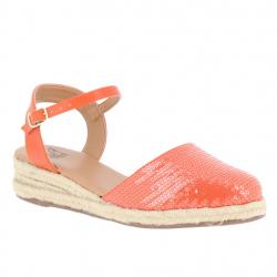 sandales compensées toile...