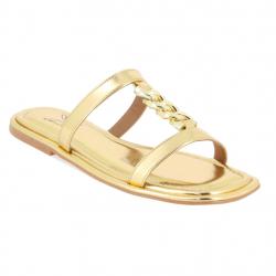 sandales plates chaine déco...