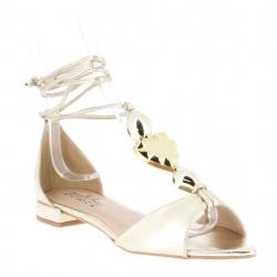 sandales plates contrefort...