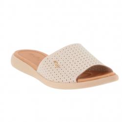 savates confort textile beige