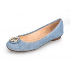 ballerines nubuck bleu jean