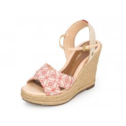 sandales compensées cuir et...