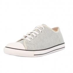 baskets à lacets molleton gris