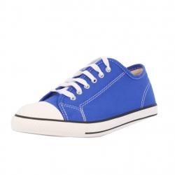 baskets à lacets toile bleu...