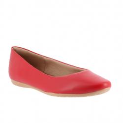 ballerines confort cuir rouge